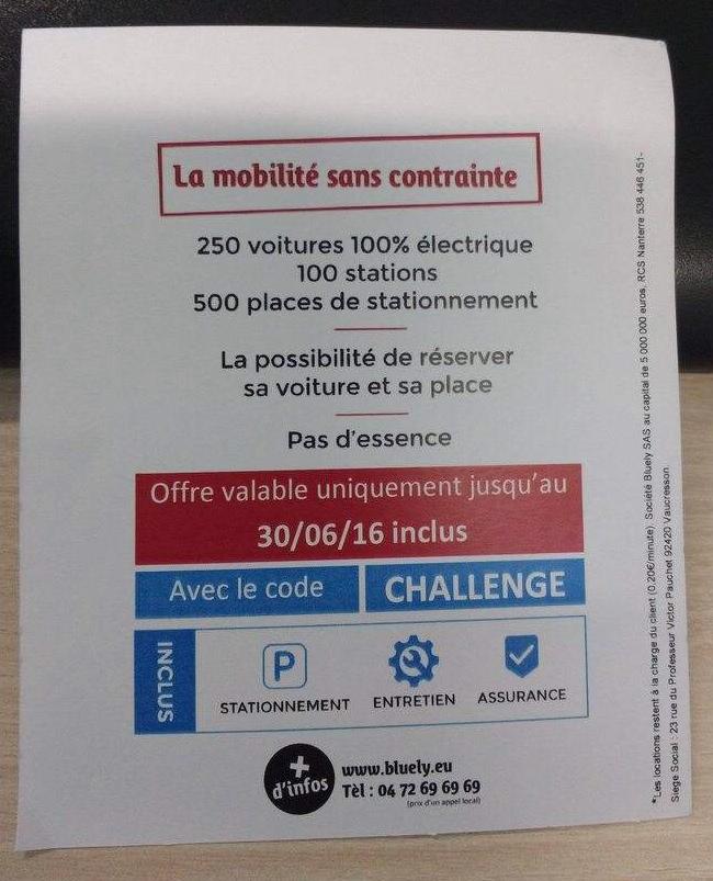 bluely nouveaux tarifs la recharge des voitures lectriques forum automobile propre. Black Bedroom Furniture Sets. Home Design Ideas