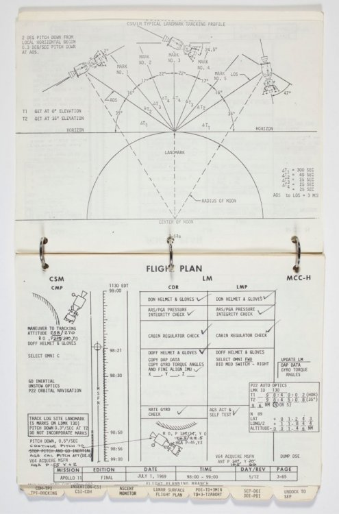 Apollo 11 Lunar Module Timeline Book, June 19-July 12, 1969, annotated by Neil Armstrong and Buzz Aldrin.jpg
